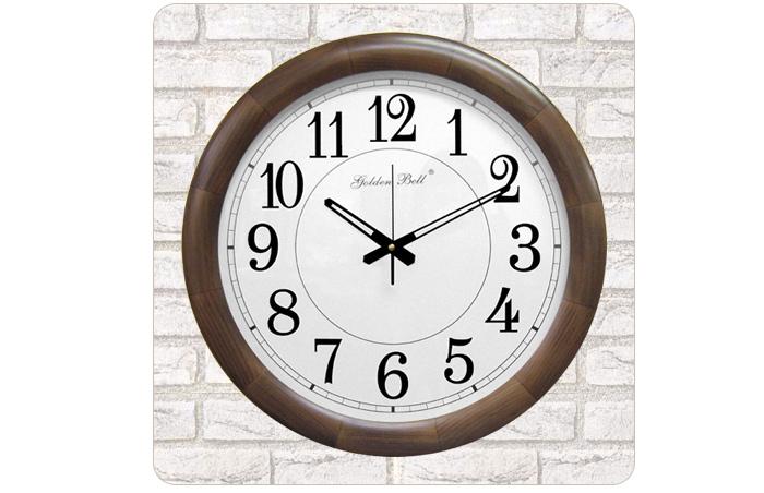 GB1070 대형 원목 월넛 원형 벽시계 50cm - 골든벨시계, 65,000원, 벽시계, 우드벽시계